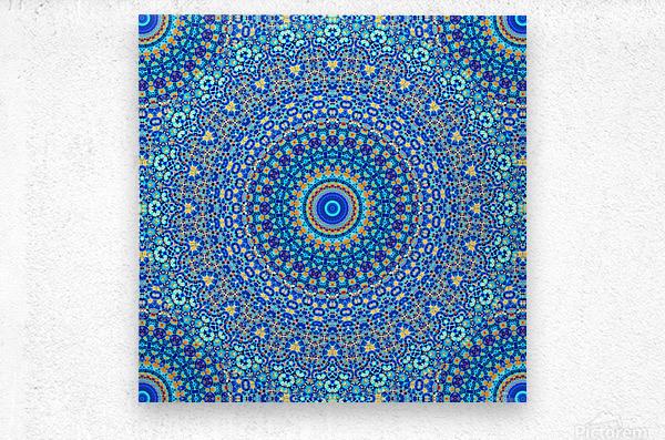 Mandala_5A  Metal print