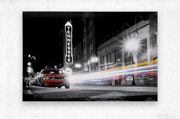 Tennessee Theater Monochrome  Metal print