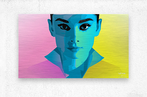 Pop Art Audrey Portrait  Metal print
