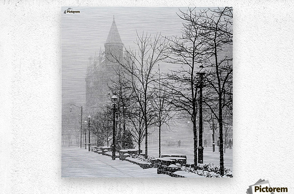 Gooderham in Winter  Metal print