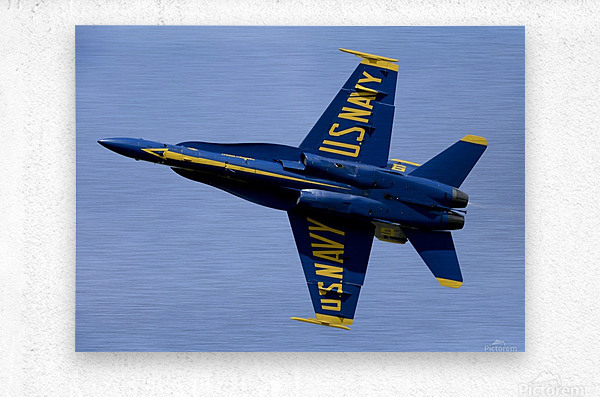 U.S. Navy flight demonstration squadron the Blue Angels.  Metal print