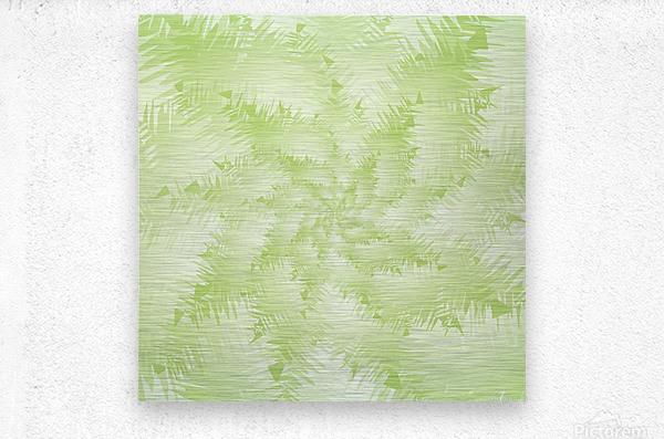 Green Snowflake  Metal print