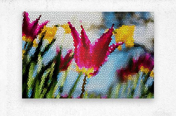 Tulip Mosaic  Metal print