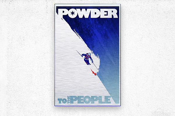 Powder To The People   Metal print