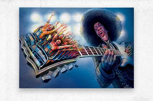 Jimi Hendrix by Krzysztof Grzondziel  Metal print