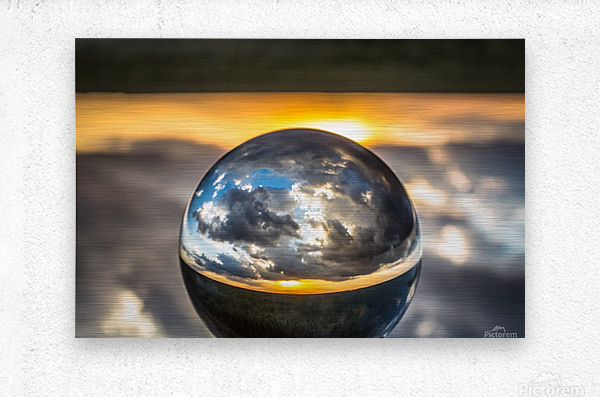 Lens Ball5  Metal print