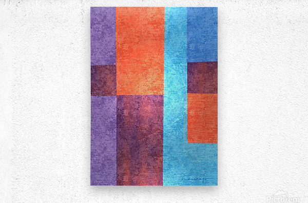Abstract Geometric Space 3  Metal print