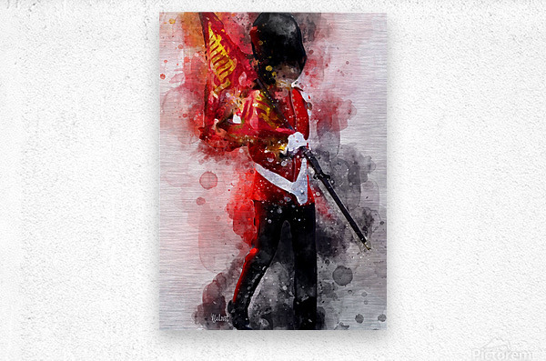 The Queens Guard  Metal print