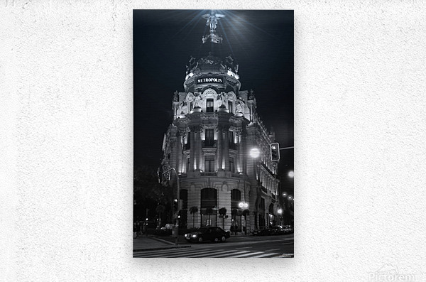 Metropolis Boulding   Grand Via   Madrid  Metal print