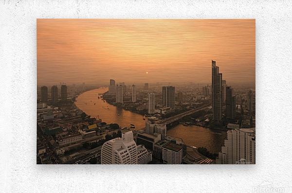 BANGKOK 01  Metal print