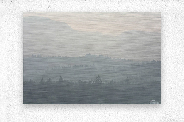 Hills of haze  Impression metal