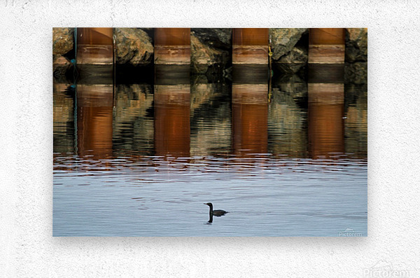 The breakwater  Impression metal