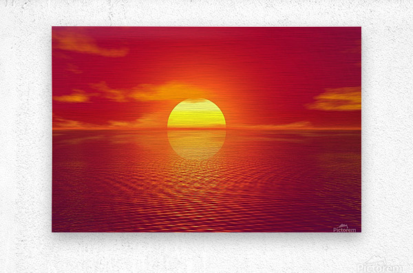 Beautiful Nature Landscape sunrise sunset sun Photography landscape photo Scenery  Metal print