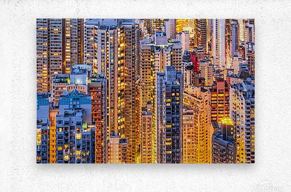 HONG KONG 34  Metal print