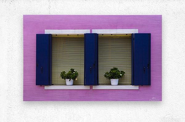 Windows in Burano  Metal print