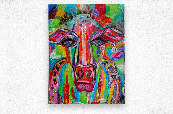 Party Cow  Metal print