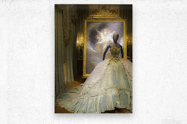 500 Years of Fashion: Chatsworth 2017 B  Metal print