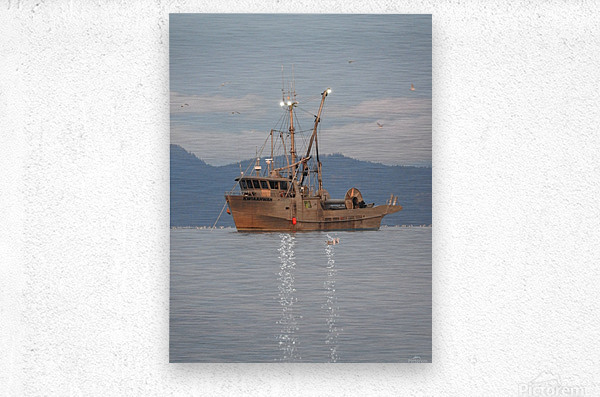 Lights on the Water  Metal print