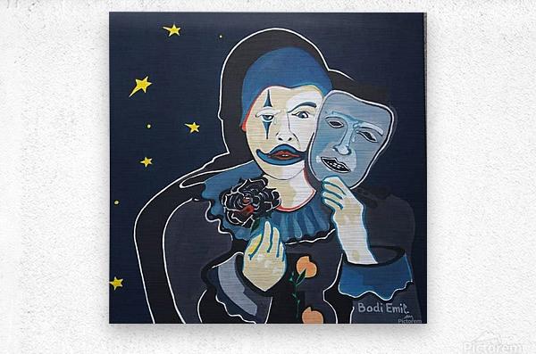 Arlequin a rose noir  Impression metal