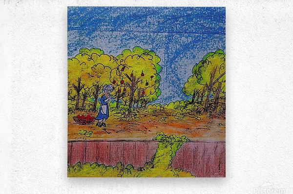 Apple Harvest Time  Metal print
