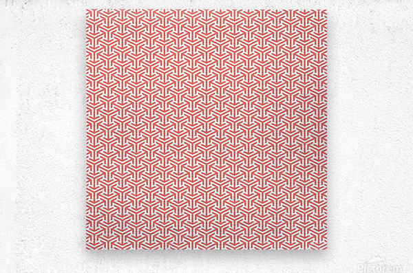 Living Coral Pattern IV  Metal print