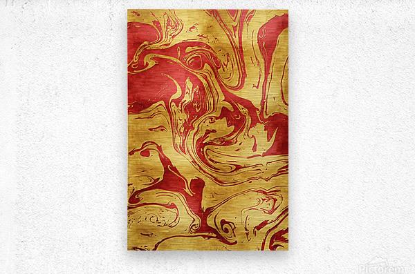 Red Dragon Marble  Metal print