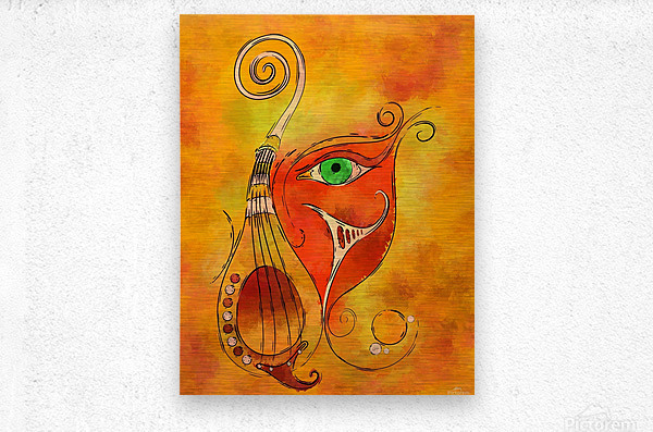 Masquerevue - beauty behind the instrumental mask  Metal print