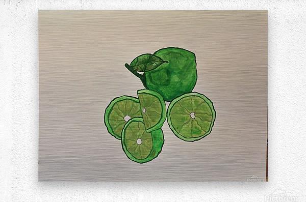 Lime in Szn   Metal print