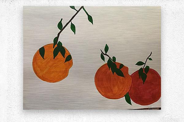 Orange You in Love  Metal print