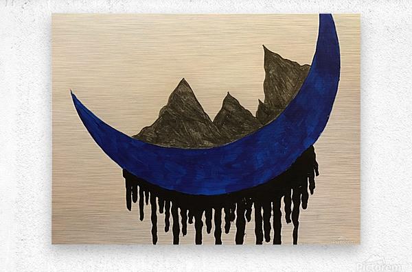 Mountains on the Moon  Metal print