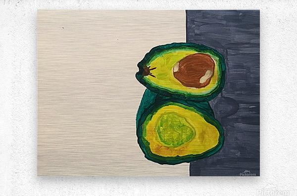 Ripe Avocados  Metal print