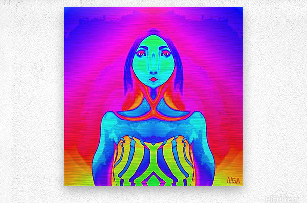 The Other Woman by neil gairn adams   Metal print