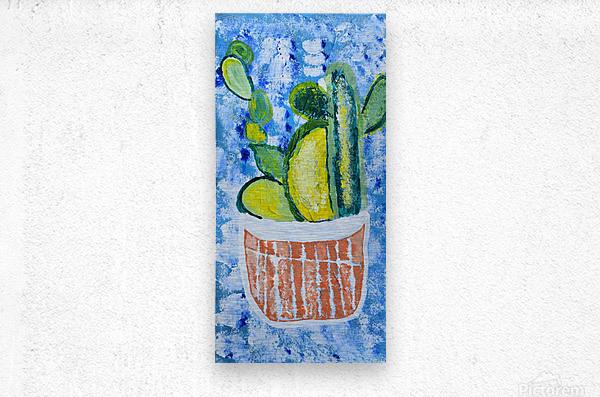 Bluebonnet cactus. Molly H  Metal print
