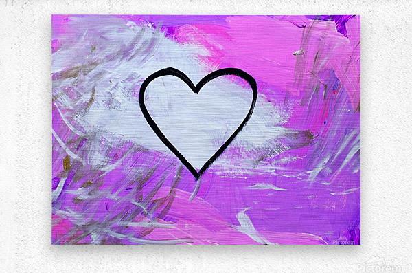 Love is a Feeling. Jessica B  Metal print