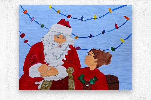 Christmas Eve. David K  Metal print