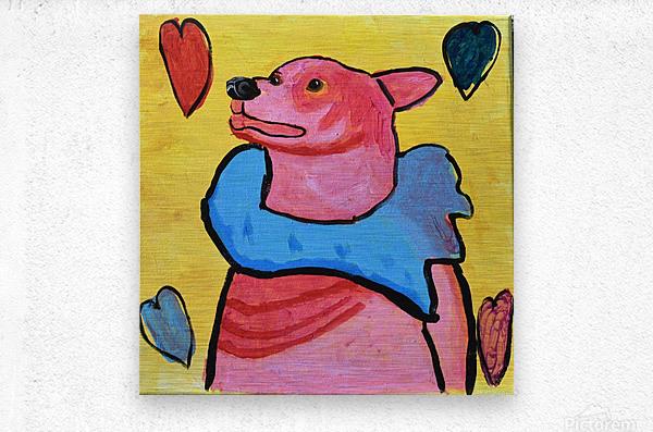 Happy Dog. Jana A.  Metal print