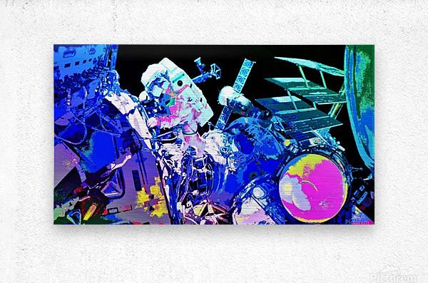 The Space Walker by Neil Gairn Adams  Metal print