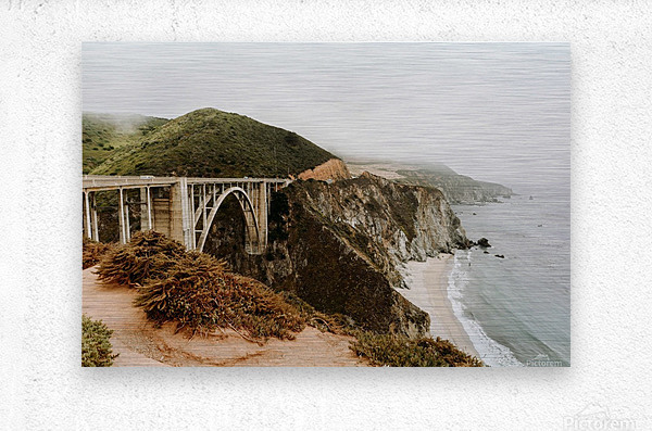 Bixby Bridge California  Impression metal