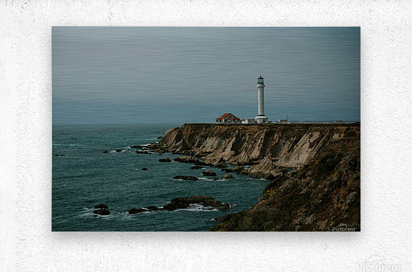 Point Arena Lighthouse California  Impression metal