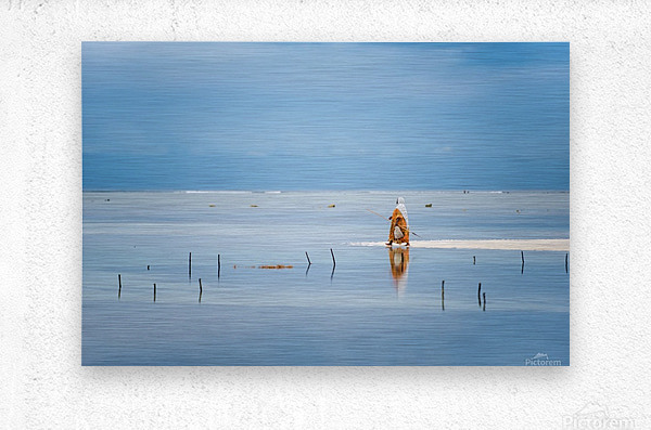 Low tide  Metal print