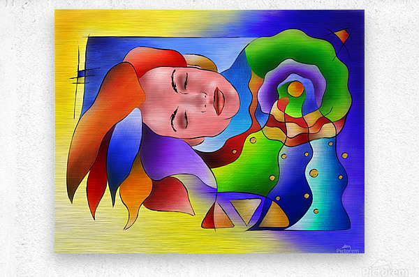 Fasettonia - colourful spirit  Metal print