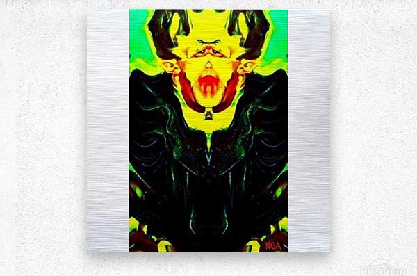 Dracula square format by Neil Gairn Adams  Metal print