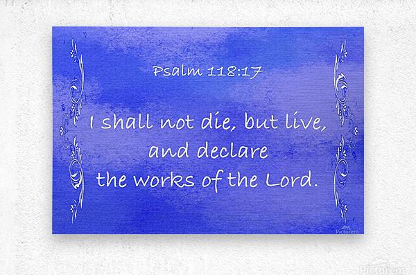 Psalm 118 17 4BL  Metal print
