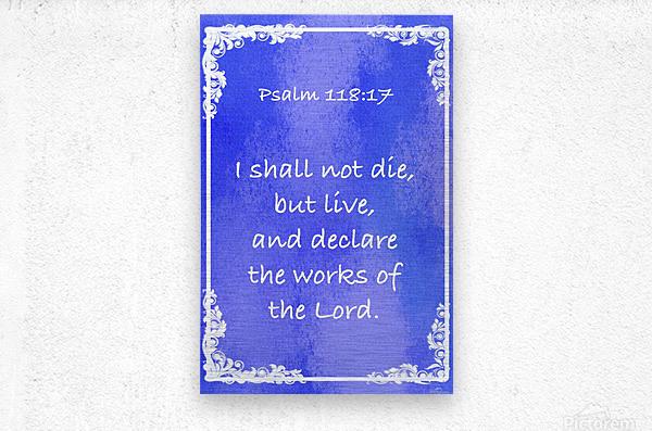 Psalm 118 17 8BL  Metal print