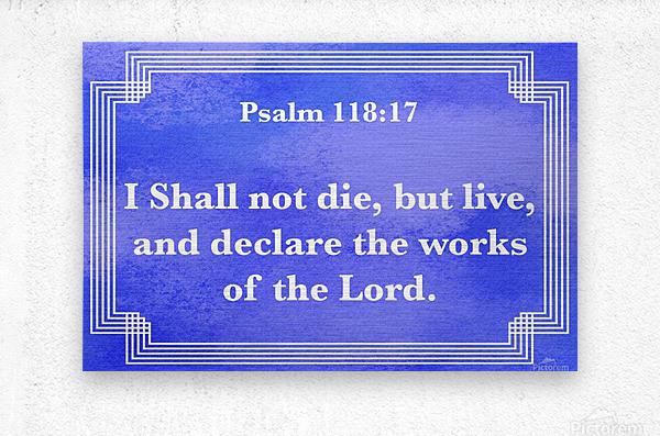 Psalm 118 17 2BL  Metal print