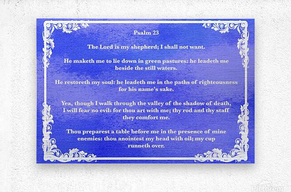 Psalm 23 9BL  Metal print