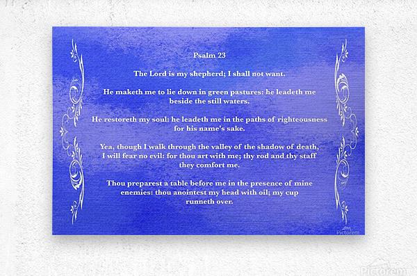 Psalm 23 4BL  Metal print