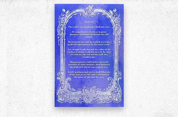 Psalm 23 7BL  Metal print