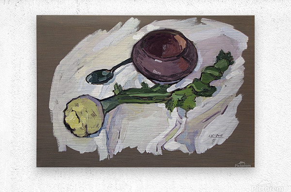 Still Life with Celery  Metal print