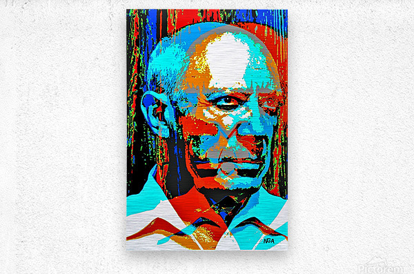 Pablo Picasso - by Neil Gairn Adams  Metal print